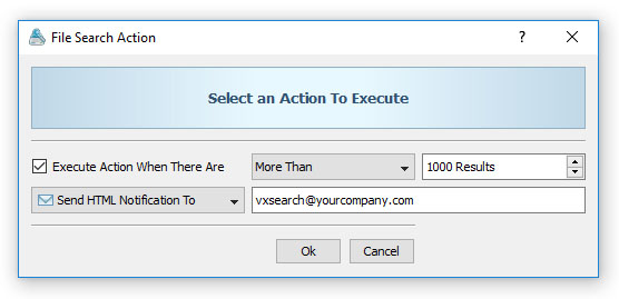 Conditional File Search Action Notification